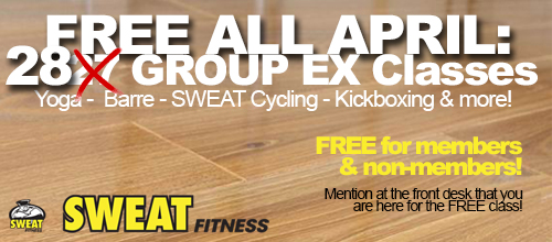 FREE Group Ex Classes All April