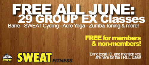 FREE Group Ex Classes All June 2014