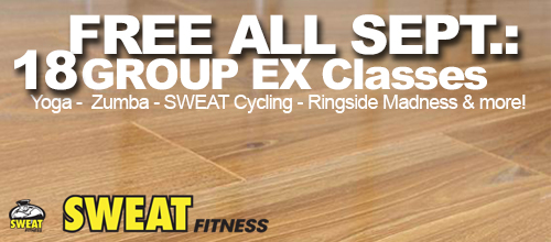 18 FREE Group Ex Fitness Classes All of September 2014