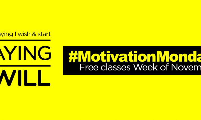 #MondayMotivation: Free Group Ex Classes Week of Nov. 17