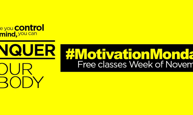 #MondayMotivation: Free Group Ex Classes Week of Nov. 3