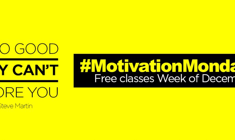 #MondayMotivation: Free Group Ex Classes Week of Dec. 8