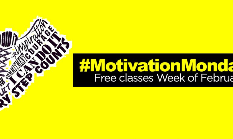 #MondayMotivation: Free Group Ex Classes Week of Feb. 23