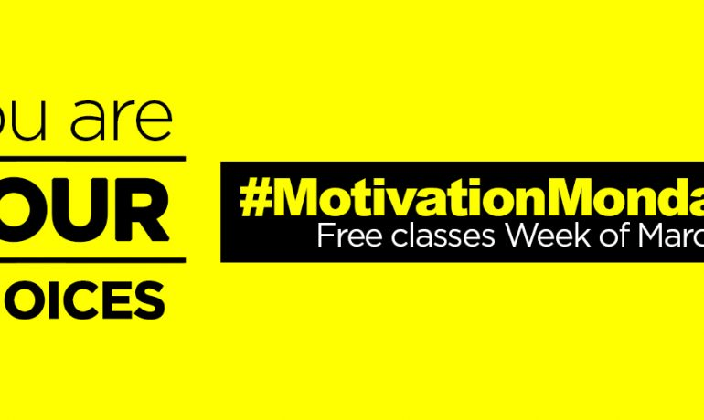 #MondayMotivation: Free Group Ex Classes Week of March 2