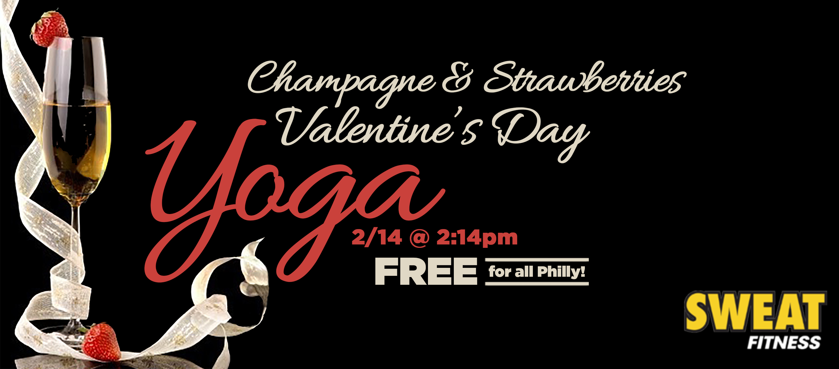 3rd Annual Champagne Strawberries Valentine S Day Yoga Sweat Fitness
